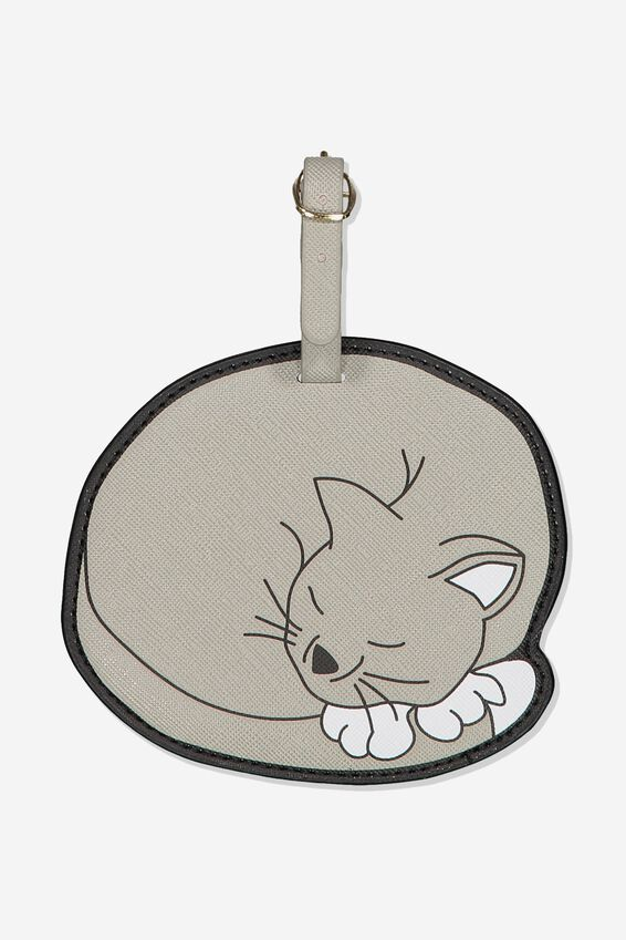 Shape Shifter Luggage Tag, CAT - NOVELTY