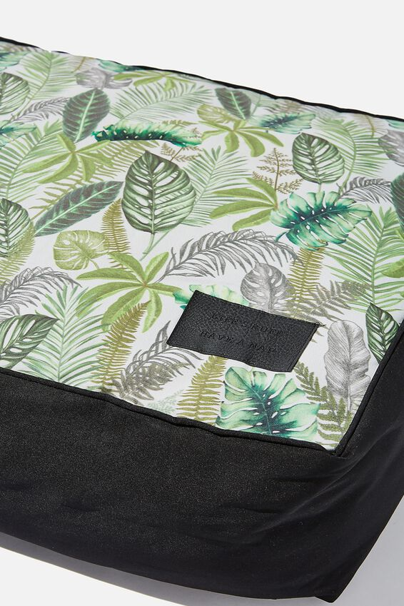 Small Printed Pet Bed, FERN FOLIAGE