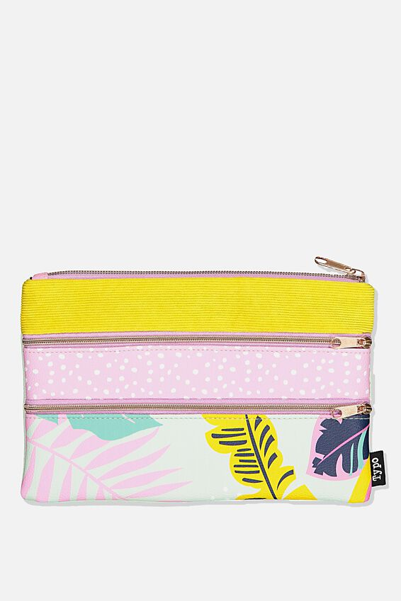 Double Archer Pencil Case, GIRLIE PALM