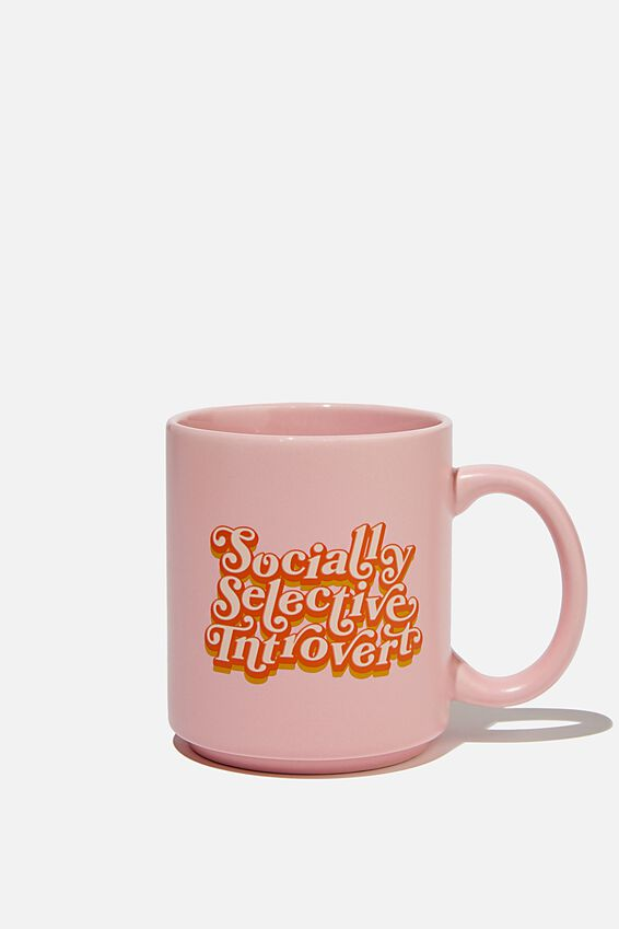 Daily Mug, SOCIALLY SELECTIVE INTROVERT