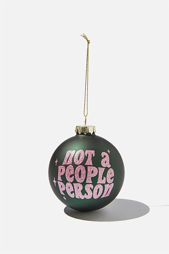 Small Glass Christmas Ornament, BAUBLE PEOPLE PERSON