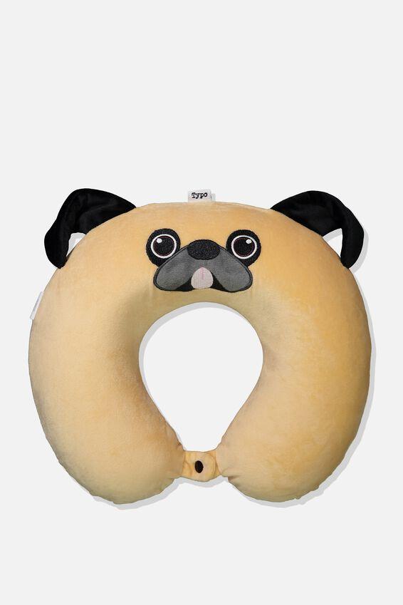 Novelty Neck Pillow, PUG