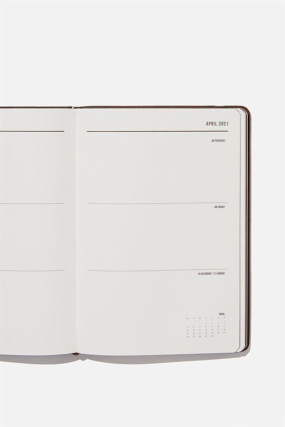 2021 A5 Weekly Buffalo Diary, BITTER CHOC