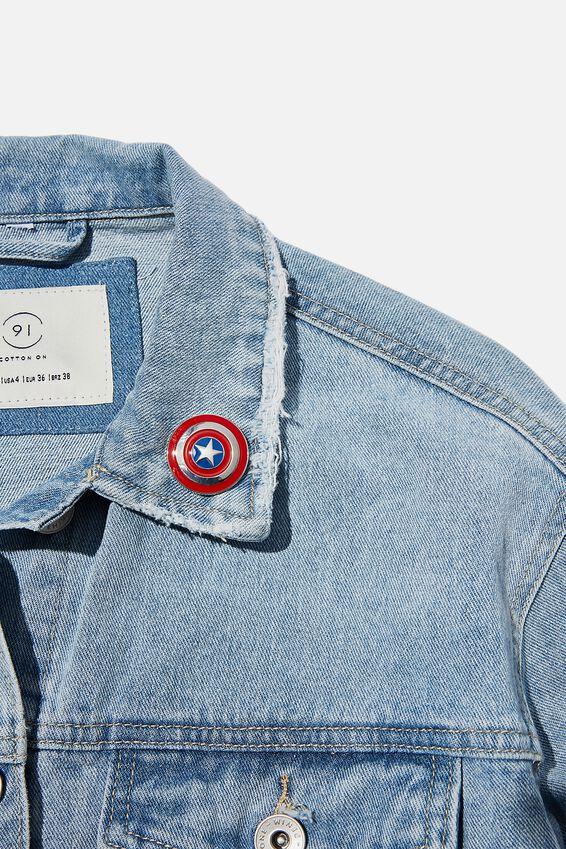 Marvel Enamel Badge, LCN MAR CAPT AM