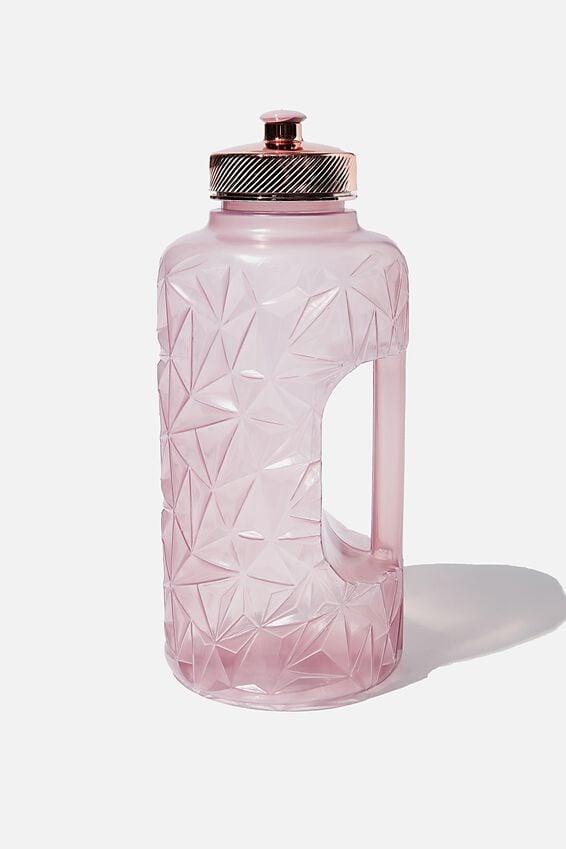 Faceted Drink Bottle, HEATHER