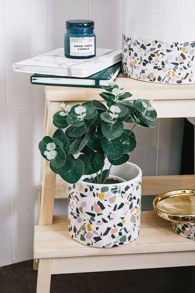Small Shaped Planter, TERRAZZO