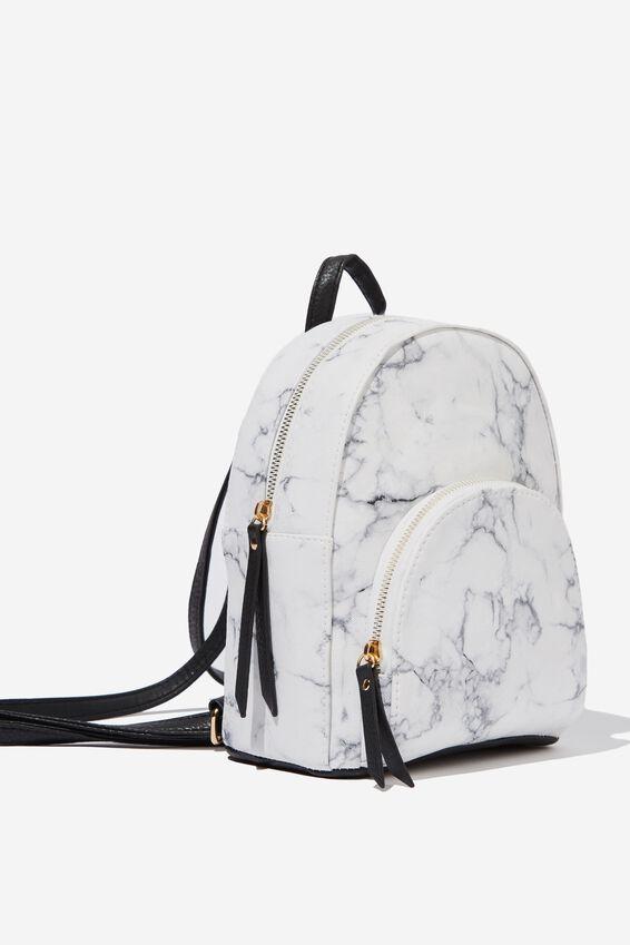 Sunset Mini Backpack, WHITE MARBLE