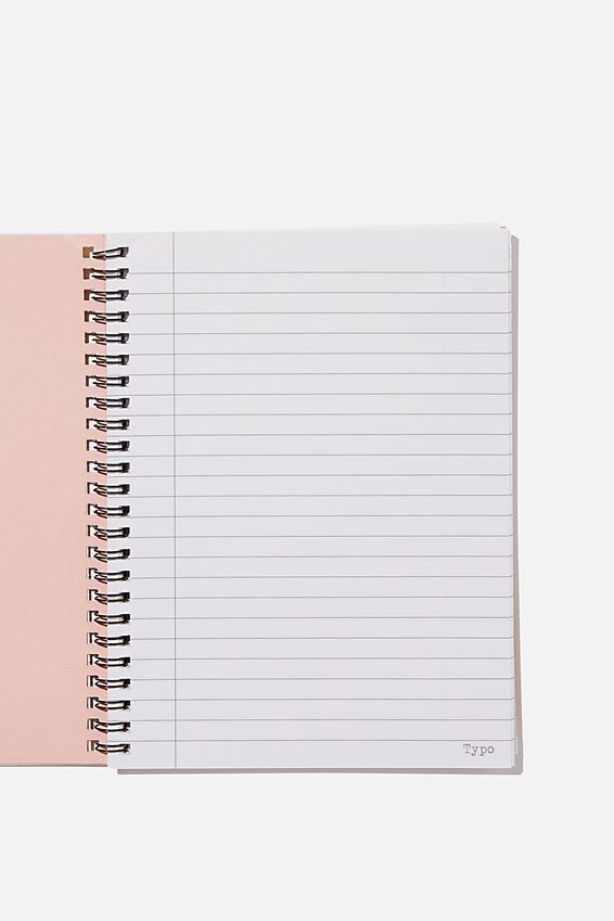 A5 Spinout Notebook Recycled, MAKE YOUR OWN LUCK MUSTARD