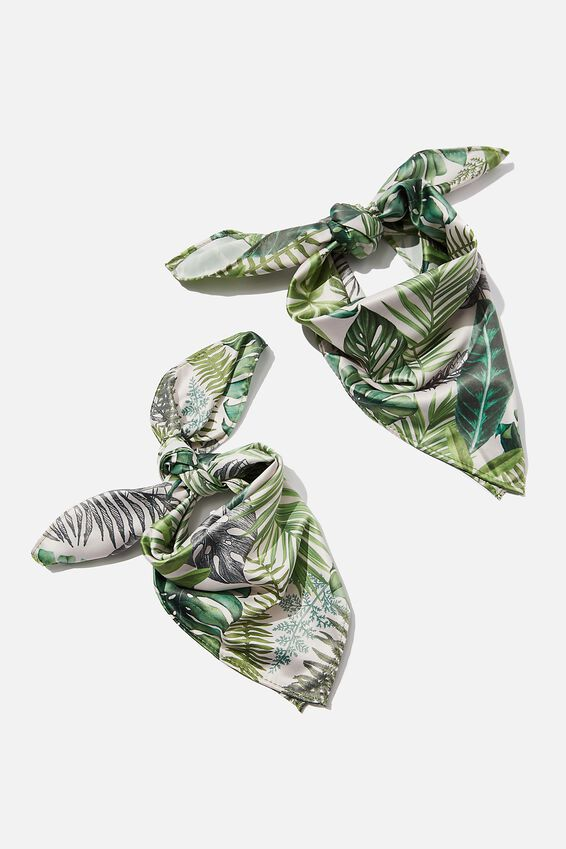 Pet & Owner Bandana Set, FERN FOLIAGE