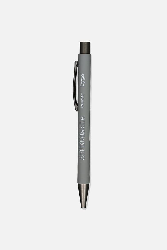 Dependable Ballpoint Pen, GREY