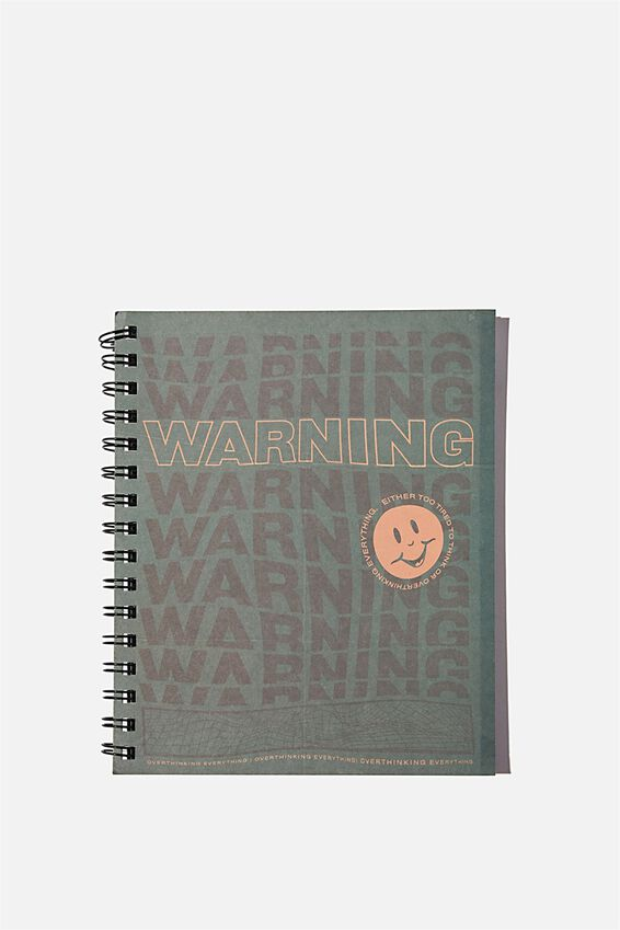 A5 Campus Notebook Recycled, SMILE WARNING