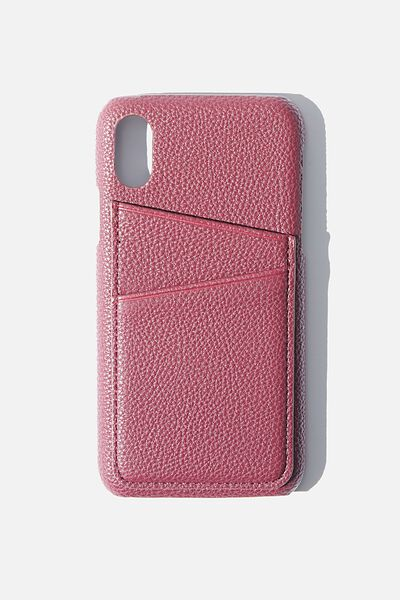 Cardholder Phone Case iPhone X, Xs, MULBERRY