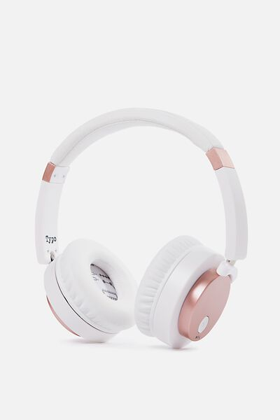 Signal Headphone, WHITE & ROSE GOLD
