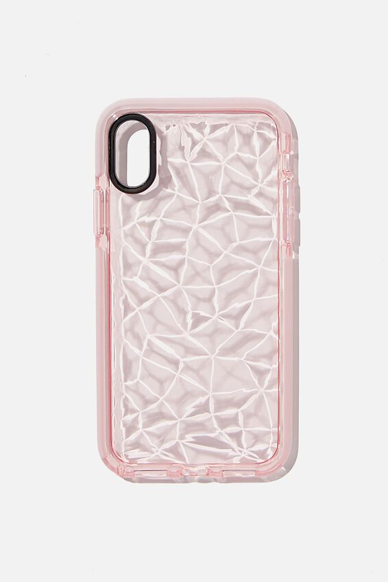 Snap On Protective Phone Case X, Xs, CLEAR DIAMOND TEXTURE