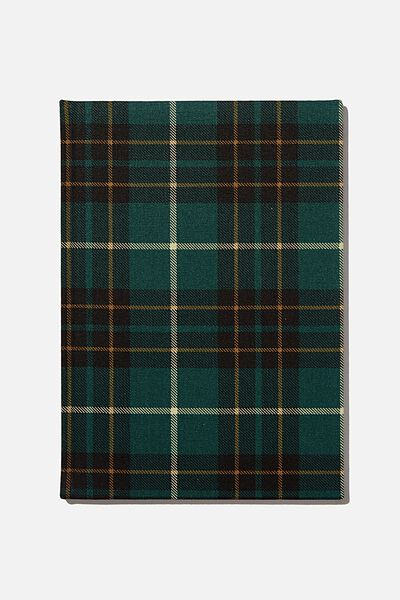 A4 Oxford Notebook, FLANNO CHECK GREEN