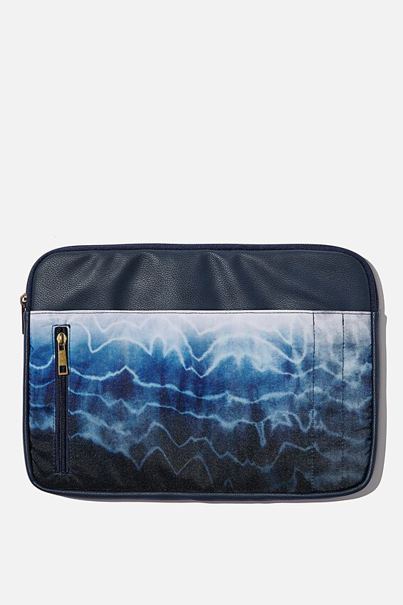 Take Charge Laptop Cover 13 inch, TIE DYE WAVES
