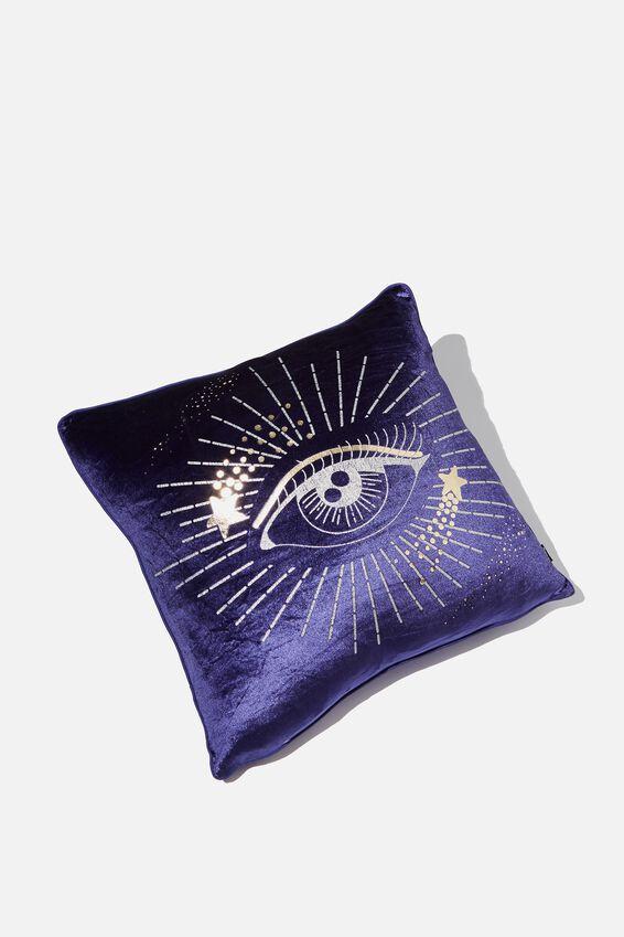 Square Cushy Cushion, VELVET COSMIC EYE