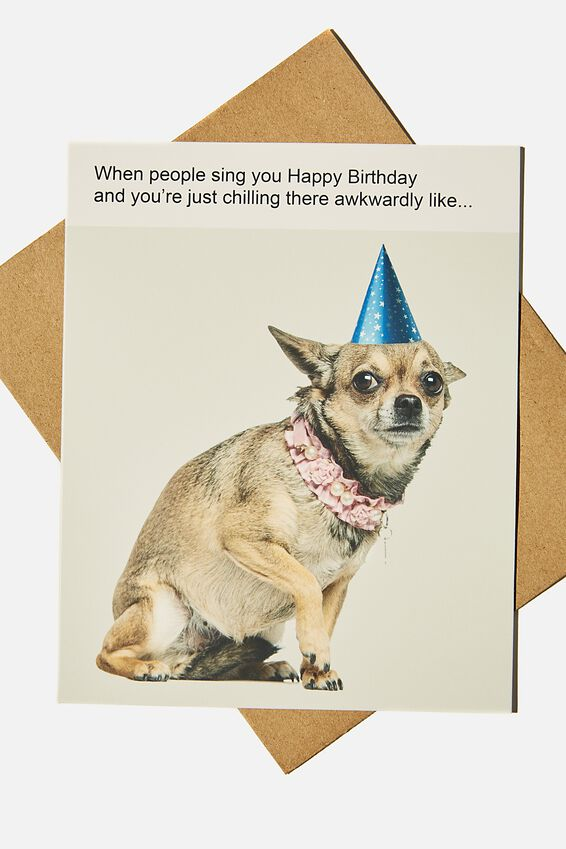 Funny Birthday Card, WHEN YOU SIT THERE AWKWARDLY MEME!