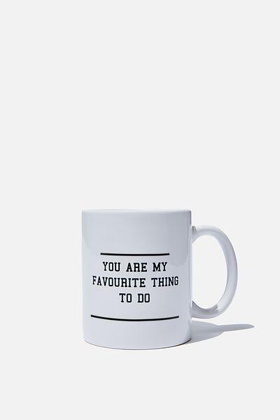 Personalised Mug, FAV THING TO DO