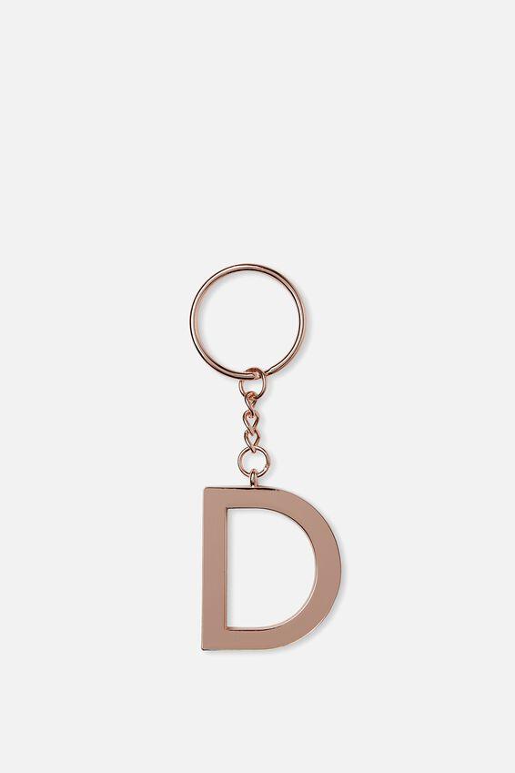 Alphabet Keyring, ROSE GOLD D