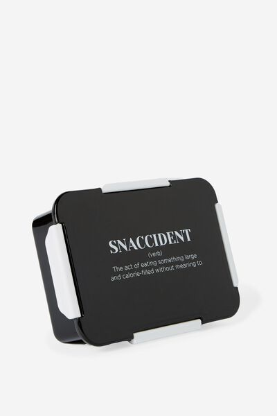 Rectangular Lunch Container, SNACCIDENT NEW