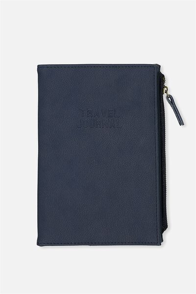 Travel Zip Journal, NAVY