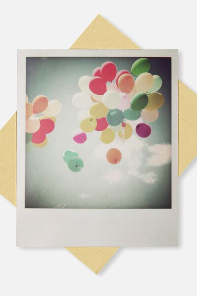 Snap Happy Birthday Card, BL-BALLOONS