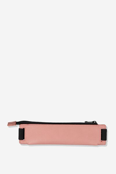Notebook Pencil Case, PINK AND BLACK