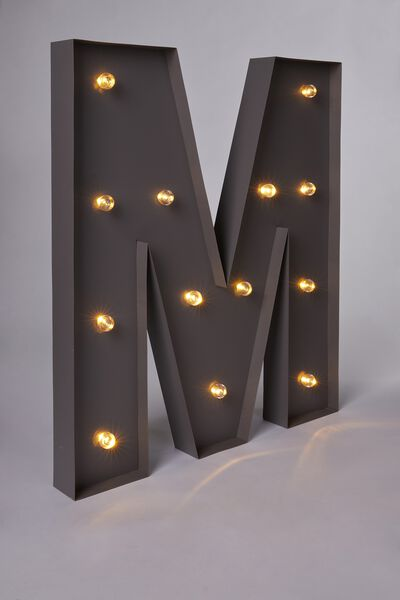Marquee Letter Lights 70cm, SILVER M