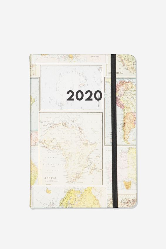 2020 A5 Daily Buffalo Diary, MAP