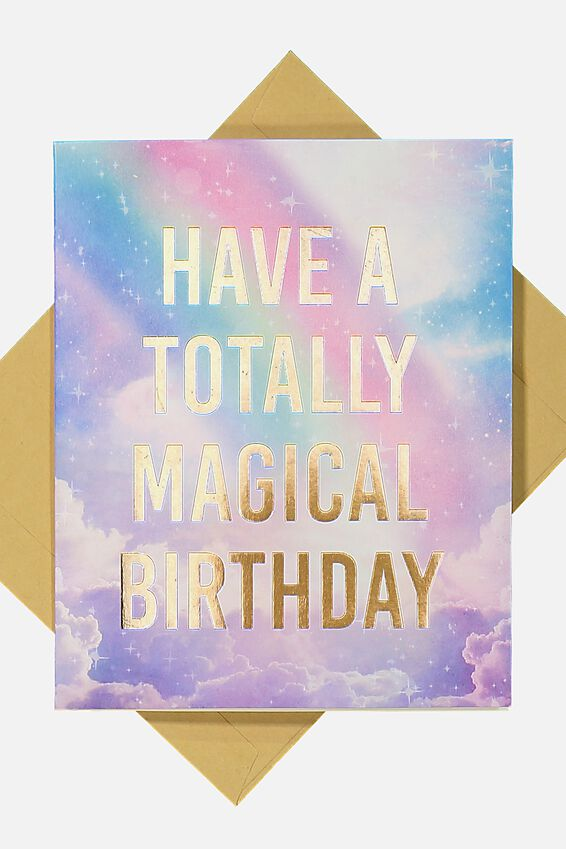 Premium Funny Birthday Card, POP UP UNICORN