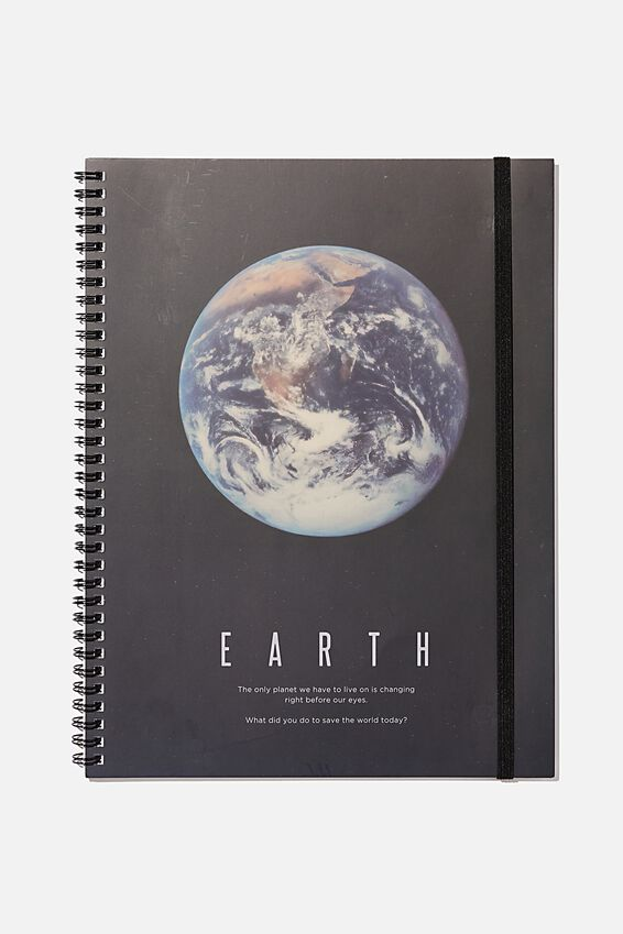 A4 Spinout Notebook Recycled, EARTH
