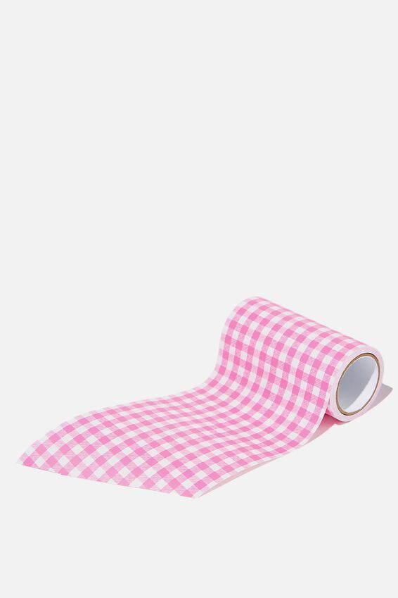 Wrapping Paper Band Rolls, PINK GINGHAM