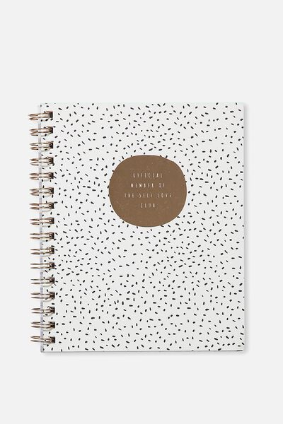 A5 Campus Notebook - 240 Pages, SELF LOVE CLUB