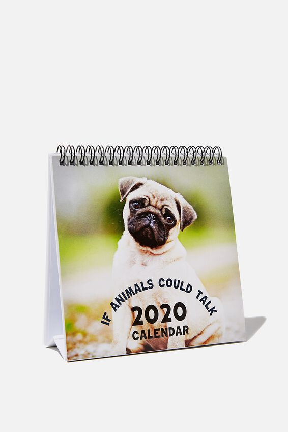 2020 Desk Calendar, ANIMALS