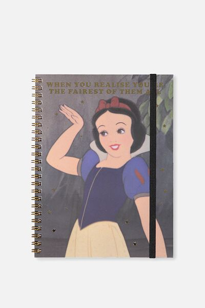 A5 Spinout Notebook - 120 Pages, LCN SNOW WHITE FAIREST