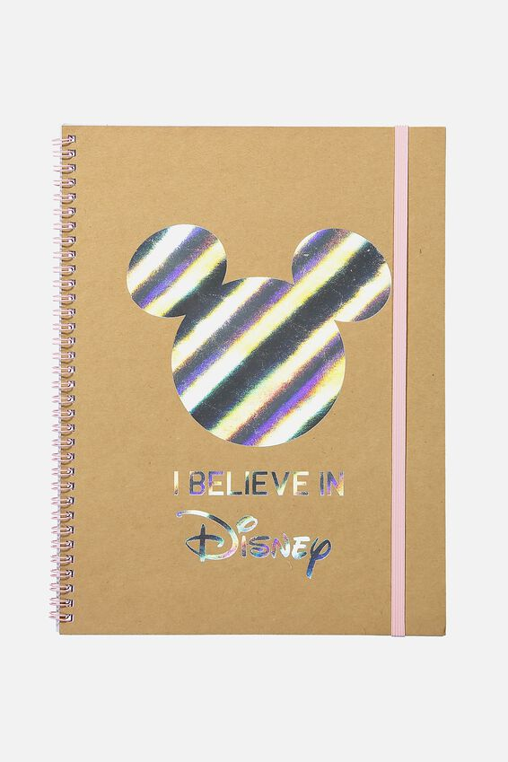 A4 Spinout Notebook - 120 Pages, LCN I BELIEVE IN DISNEY