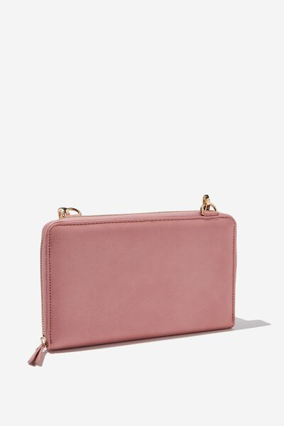 X-Body Travel Wallet, DUSTY PINK