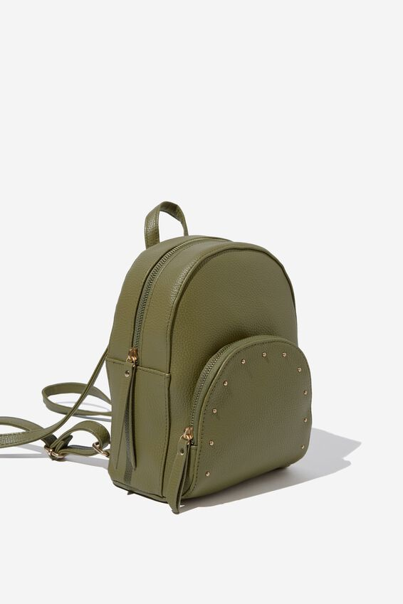 Sunset Mini Backpack, OLIVE W STUDDED PKT