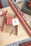 Roll Wrapping Paper, KRAFT RED STRIPE