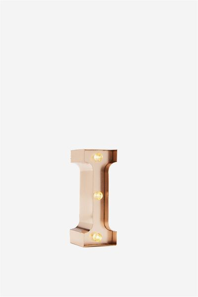 Mini Marquee Letter Lights 10cm, ROSE GOLD I