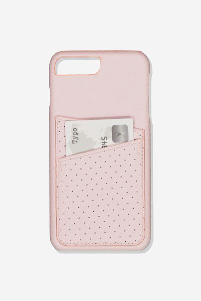The Cardholder Phone Cover 6,7,8 Plus, BLUSH PERF