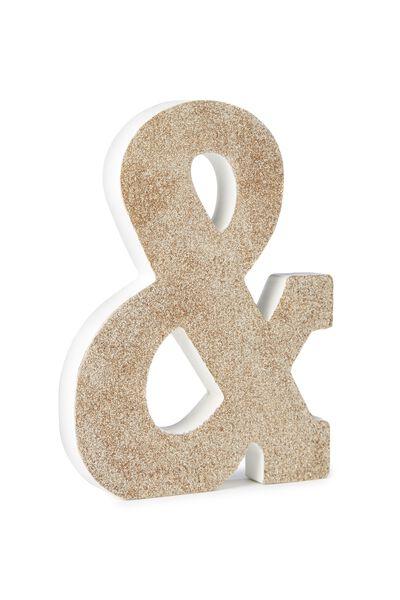 Glitter Letterpress Letter, PALE GOLD GLITTER &