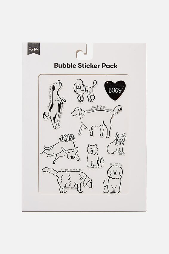 Bubble Sticker Pack, DOGS