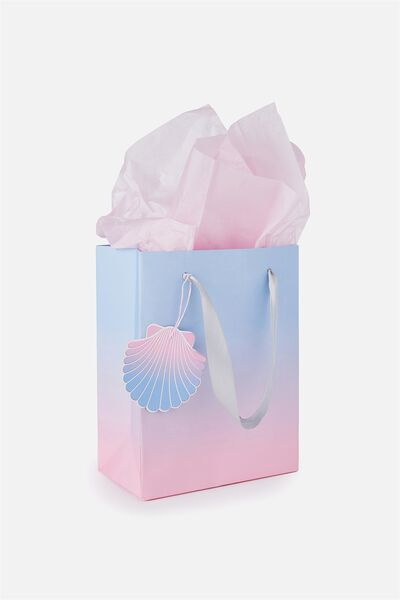 Small Gift Bag with Tissue Paper, MERMAID GRADIENT