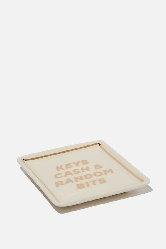 Small Trinket Tray, KEYS CASH