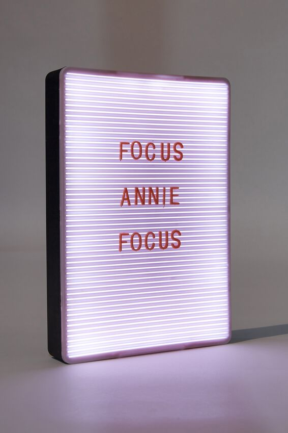 Peg Board Light Box, HEATHER, WHITE & CORAL