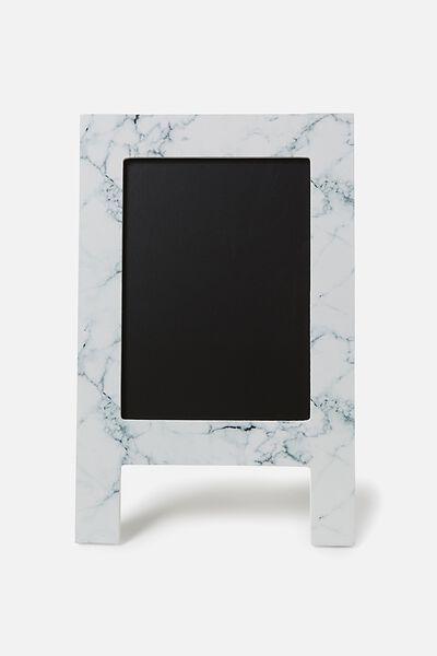 Mini Chalkboard Easel, MARBLE