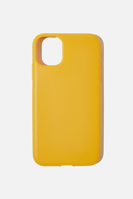 Recycled Phone Case iPhone 11, MUSTARD