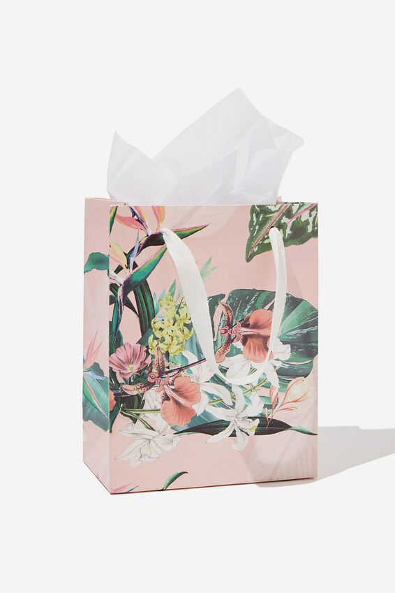 Small Gift Bag with Tissue Paper, BIRDS OF PARADISE
